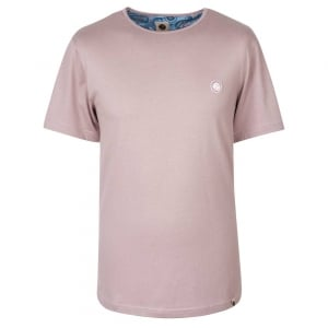 Pretty Green SS Crew Neck T-Shirt in Plum