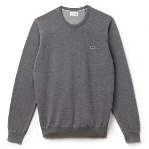 Lacoste Crew Neck Knitwear in Grey
