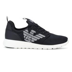 Ea7 Unisex Half Size Trainers in Black