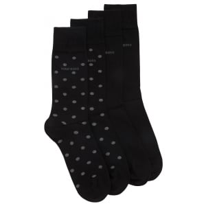 2P Dot Socks in Black