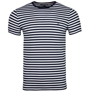 Tommy Hilfiger Slim Fit T-Shirt in Navy/White