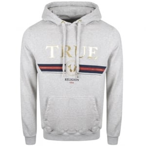 True Religion Logo Hoodie in Grey