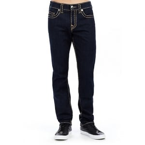 "True Religion Super T Geno 34"" Long Leg Jeans in Dark Wash"