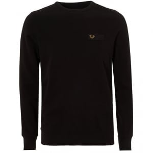 True Religion Metal Horse Sweatshirt in Black