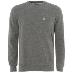 True Religion Metal Horseshoe Logo Sweatshirt in Grey