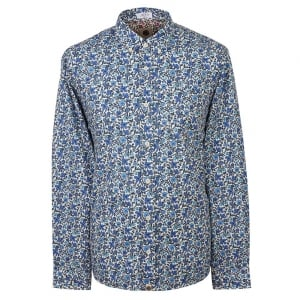 Pretty Green Liberty Print Shirt in Blue