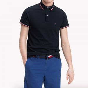 Tommy Hilfiger Tipped Polo Shirt in Navy