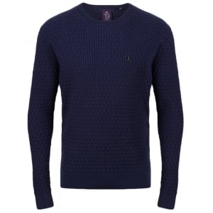 Binary Knitwear in Navy