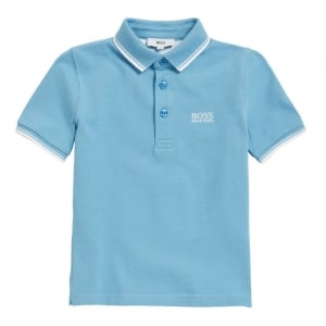 6-12 Years Core Polo Shirt in Sky Blue