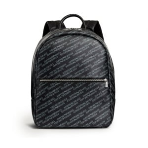 Emporio Armani All-Over Logo Backpack in Grey
