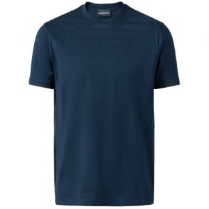 Emporio Armani GA Lined T-Shirt in Blue