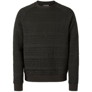 Emporio Armani Silk Eagle Sweatshirt in Black