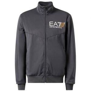 Ea7 Silk No Hood Tracksuit in Dark Grey