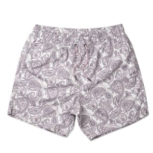 Paisley Print Swim Shorts in Grey