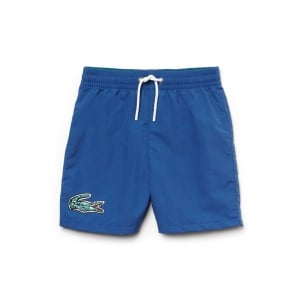 Lacoste Kids 8-10 Years Swimming Trunks in Blue