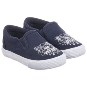 Kenzo Baby 20-24 Slip-on Shoes in Navy
