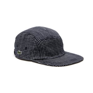 Lacoste Live Check Cap in Navy and White