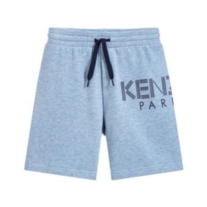 10-12 Years Logo Shorts in Blue