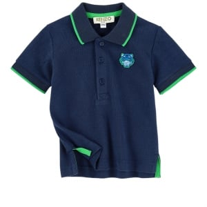 4-6 Years Tiger Polo Top in Navy