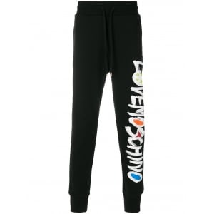 Love Moschino Peace Sign Jogging Bottoms in Black
