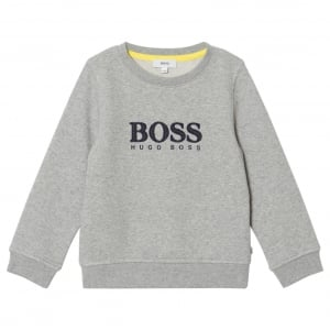 6-12 Years Chest Logo Sweatshirt in Grey