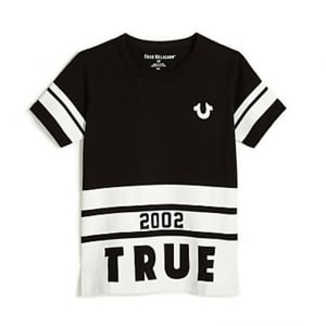 True Kids Big Logo T-Shirt in Black