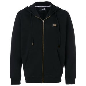 Love Moschino Fleece Sweatshirt Jacket in Black