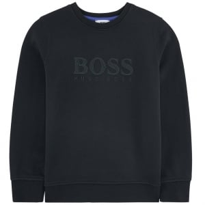 6-12 Years Chest Logo Sweatshirt in Black