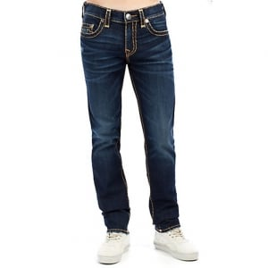 True Religion Rocco No Flap Jeans in Dark Wash