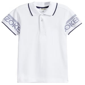 8-12 Years Plain Polo Top in White