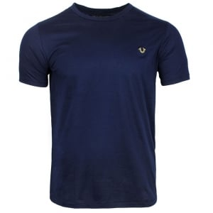 True Religion Metal Logo T-Shirt in Navy