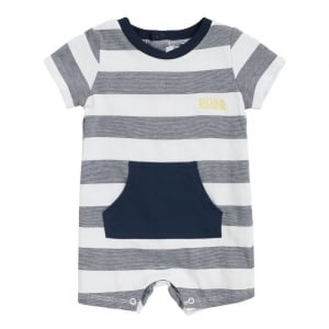 1-18 Months All-in-one Babygrow in Navy and White