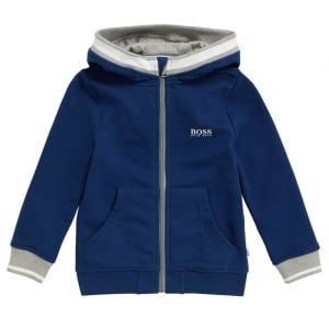 6-12 Years White Stripe Sweatshirt in Blue