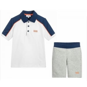 6-8 Years Polo Shirt and Shorts in White