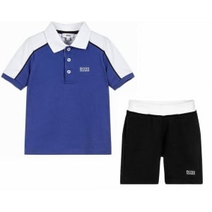 14-16 Years Polo and Shorts in Blue