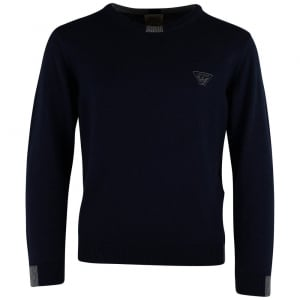 Armani Junior 12-16 Years Pullover Knitwear in Navy