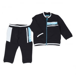 Armani Junior 6 Months - 3 Years Baby Tracksuit in Blue