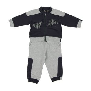 Armani Junior 6 Months-3 Years Tracksuit Set in Navy