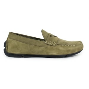 Emporio Armani Driver Shoes in Beige