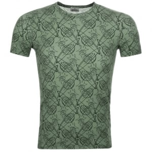 Vivienne Westwood Graffiti Orb Tee in Green