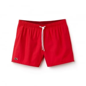Lacoste Swim Shorts in Red