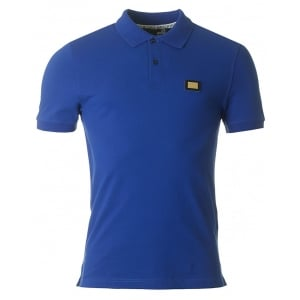 Love Moschino Metal Logo Polo Shirt in Blue