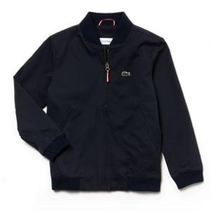 Lacoste Kids 8-12 Years Zip Bomber Jacket in Navy