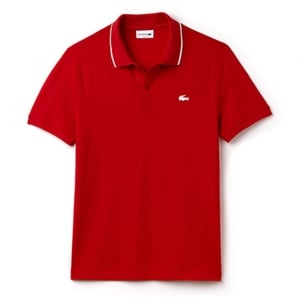 Lacoste White Croc Polo Shirt in Red