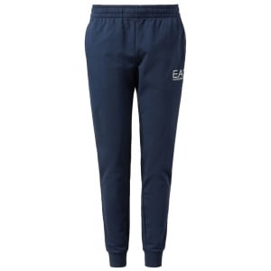 Ea7 Jersey Jogging Bottoms in Navy