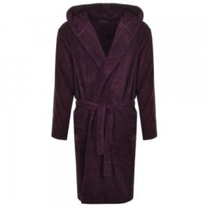 Emporio Armani Underwear Bathrobe in Maroon