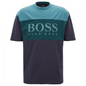 Boss Casual T-Bold T-Shirt in Dark Blue
