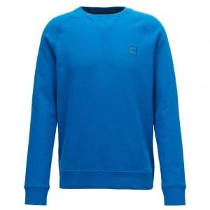 Boss Casual Wyan Sweatshirt in Bright Blue