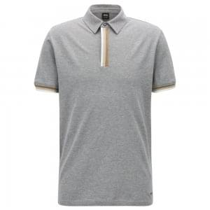 Paxto Polo Shirt in Light Grey
