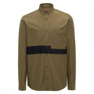Hugo Elever Shirt in Dark Green